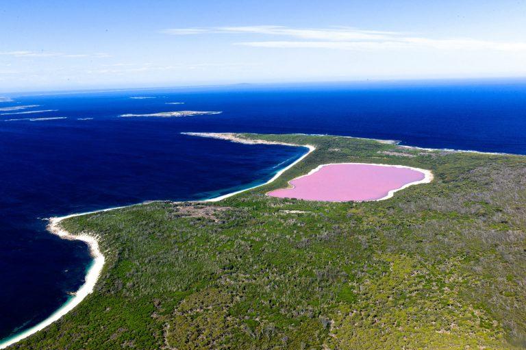 Розовото езеро Hillier