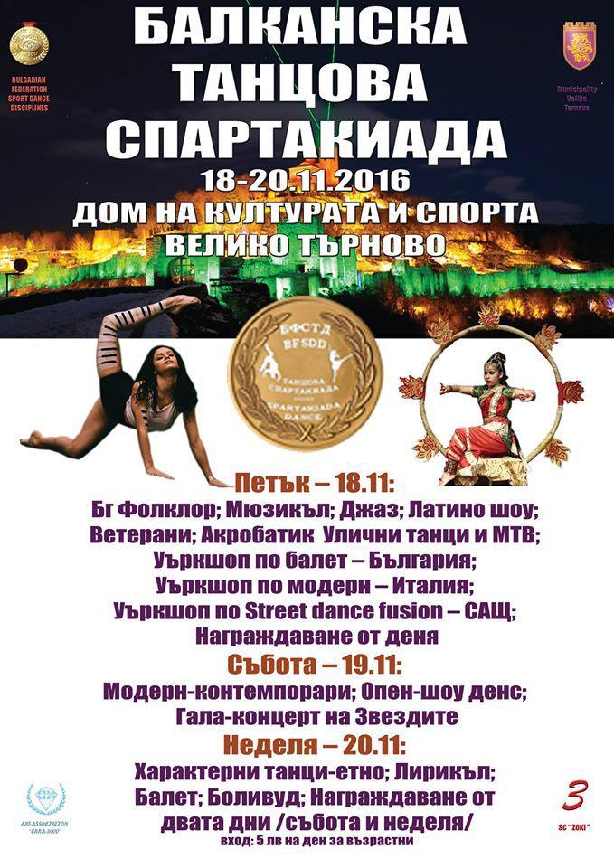 """""""Зоки"""" е домакин на Петата Балканска танцова спартакиада"""