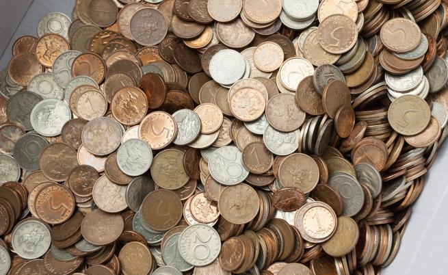 Мъж от Търново си купи винетка с 11 кг стотинки