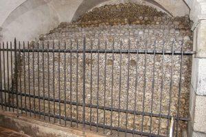 Една от костниците с част от костите намерени при манастира Св. Флориан