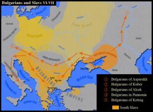 Миграцията на пра-българските племена VI-VII в.